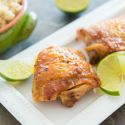 Sticky Honey Lime Chicken Thighs