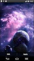 Screenshot of Galaxy Live Wallpaper