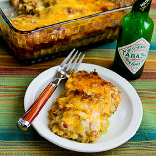 Vegetarian Recipe for Green Chile and Pinto Bean Layered Mexican Casserole