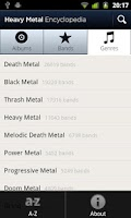 Screenshot of Heavy Metal Encyclopedia