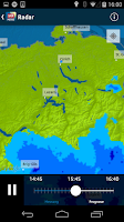 Screenshot of SRF Meteo