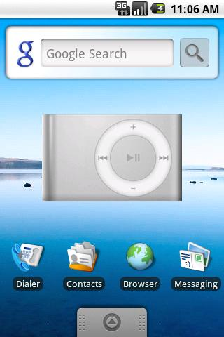 DroidPod Shuffle Silver
