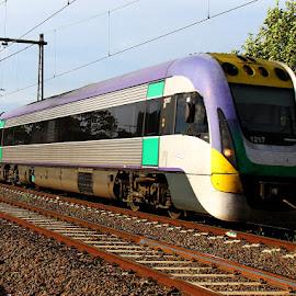 V-Line regional comuter by Ned Kelly - Transportation Trains ( diesel, railmotor, train, travel, transportation )