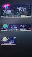 Screenshot of Unknown Planet Theme GOWeather