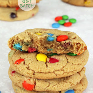 Big Soft Batch Peanut Butter M&M Cookies