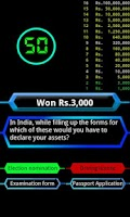 Screenshot of Quiz game 2014