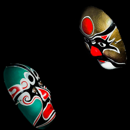 Between Two Mask by Pimpin Nagawan - Digital Art Things ( art )