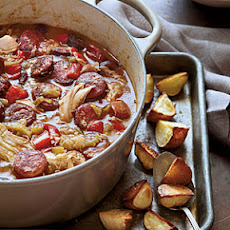 Chicken-Andouille Gumbo with Roasted Potatoes
