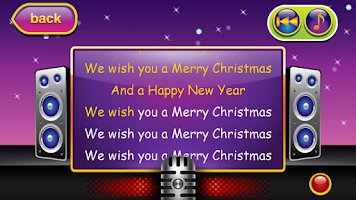 Screenshot of Karaoke for Kids Chrismtas 2