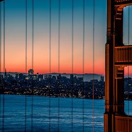 Golden Gate Sunrise by David Long - Buildings & Architecture Bridges & Suspended Structures ( california, bay area, golden gate, san francisco )