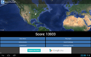Screenshot of Where in the World