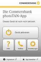 Screenshot of Commerzbank photoTAN