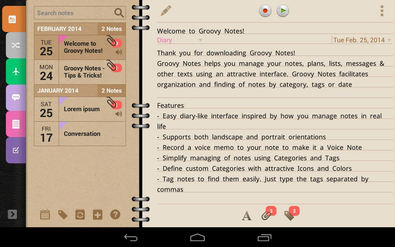 Groovy Notes - Personal Diary Screenshot 15