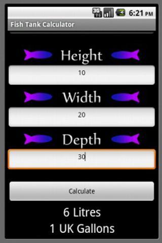 Fish Tank Calculator