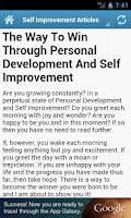 Screenshot of Self Improvement Tips