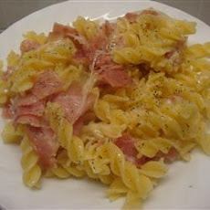 Quick Ziti with Swiss Cheese and Ham