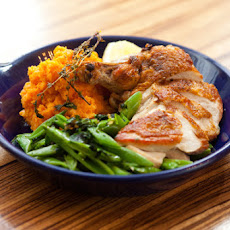 Chicken with Sauteed Ramps & Sugar Snap Peas