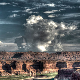 Thunderhead by Kent Moody - Landscapes Weather ( water, clouds, desert, landscape, storm,  )