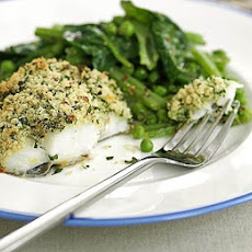 Cod With Lemon & Parsley Crust & Summer Greens