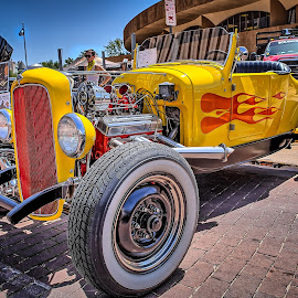 Blacktop Nationals - Street Rod by Ron Meyers - Transportation Automobiles