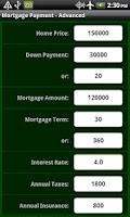 Screenshot of Mortgage Pro
