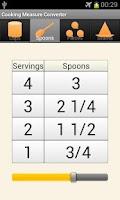 Screenshot of Cooking Measure Converter