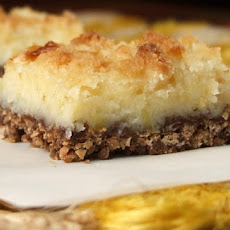 Cream Cheese Lemon Bars with Kit Kat Crust