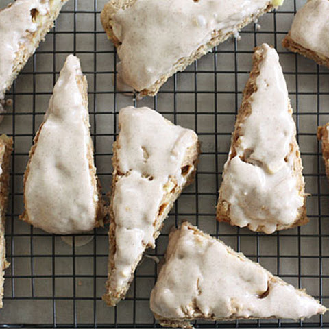 Delightful Apple Spiced Scones with Spiced Glaze