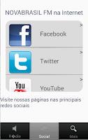 Screenshot of Rádio Nova Brasil FM