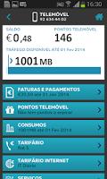 Screenshot of MEO Área de Cliente