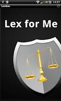 Screenshot of Lex4Me