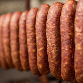 Promes sausage by Alojz Vintar - Food & Drink Meats & Cheeses ( sausage, promes, food, meat, smoked, homemade sausage,  )