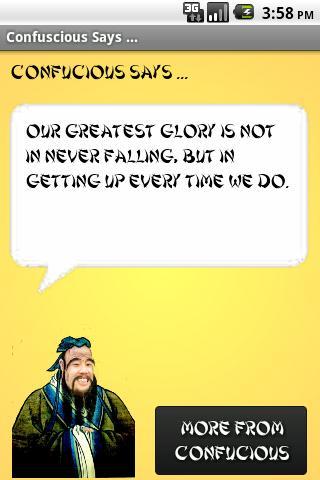 Confucius Says ...
