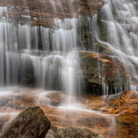 Lower Falls at Graveyard Fields by Drew Campbell - Landscapes Waterscapes ( waterfalls, lower falls, graveyard fields )