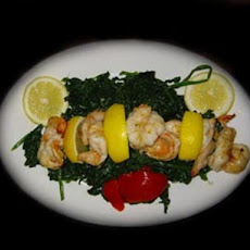 Scampi With Spinach!