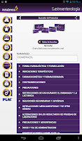 Screenshot of PLM Gastroenterología Tableta