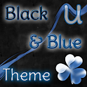 GO Launcher Theme Black & Blue icon