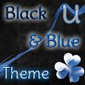 GO Launcher Tema Azul y Negro icon