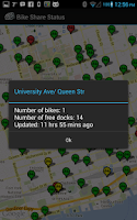 Screenshot of Bike Share Status