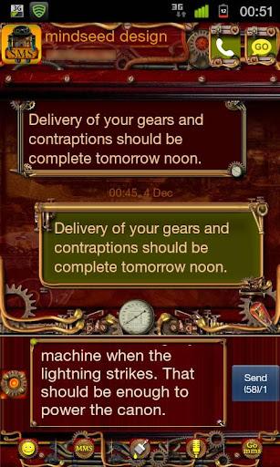 Steampunk GO SMS Theme