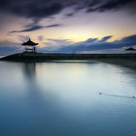 Morning Serenity by Ina Herliana Koswara - Landscapes Beaches ( sky, sanur, cloudy, sunrise, beach, morning )