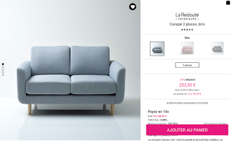 Screenshot of La Redoute FR - Shopping