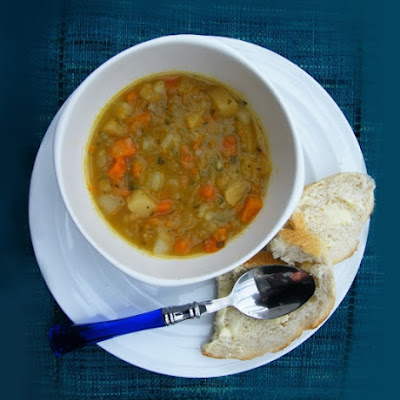 Scottish Tattie, Neep and Carrot Soup