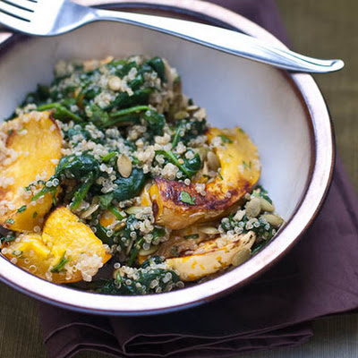 Squash and Quinoa with Cilantro-Lime Dressing