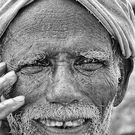 Wonder by Surender Bodhireddy - People Portraits of Men ( wrinkles, face, beard, old man, man )