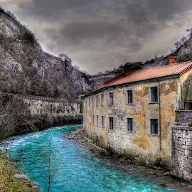 River and old house by Siniša Biljan - Buildings & Architecture Homes (  )