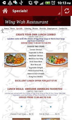 【免費娛樂App】WING WAH Restaurant-APP點子