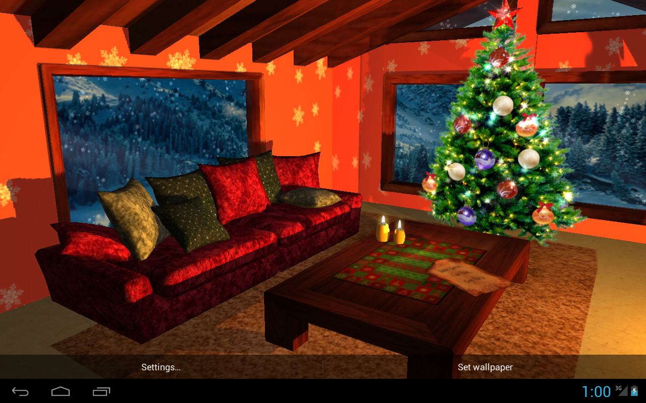 3D Christmas Fireplace HD Full Screenshot 3