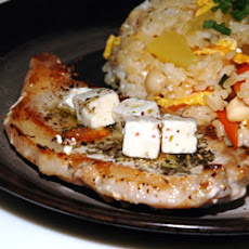 Pork Chop and Feta Skillet
