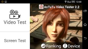 Screenshot of AnTuTu Video Tester